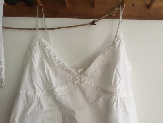 White cotton eyelet baby doll pajama set top shor… - image 3