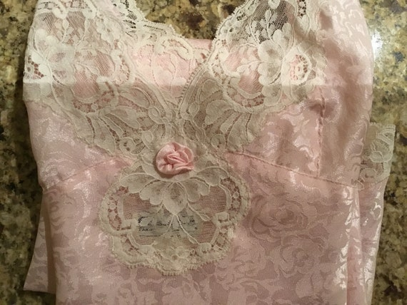 Christian Dior Vintage Pink Nightgown lace chemise