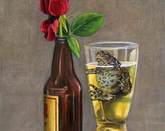 A Love Story - Toad Fine Art Giclee 5x7 matted to 8x10