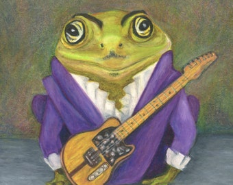 A Frog From the Waters of Lake Minnetonka - Small Giclee Print of a Frog that is a Prince