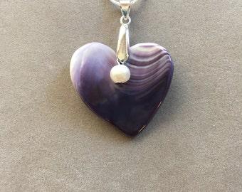 Wampum Heart Pendant