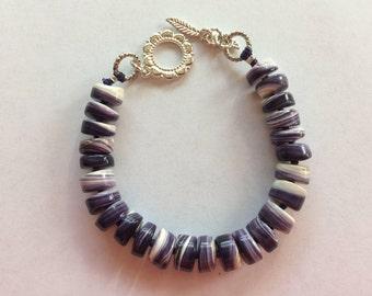 Wampum Natural Shell Beaded Bracelet