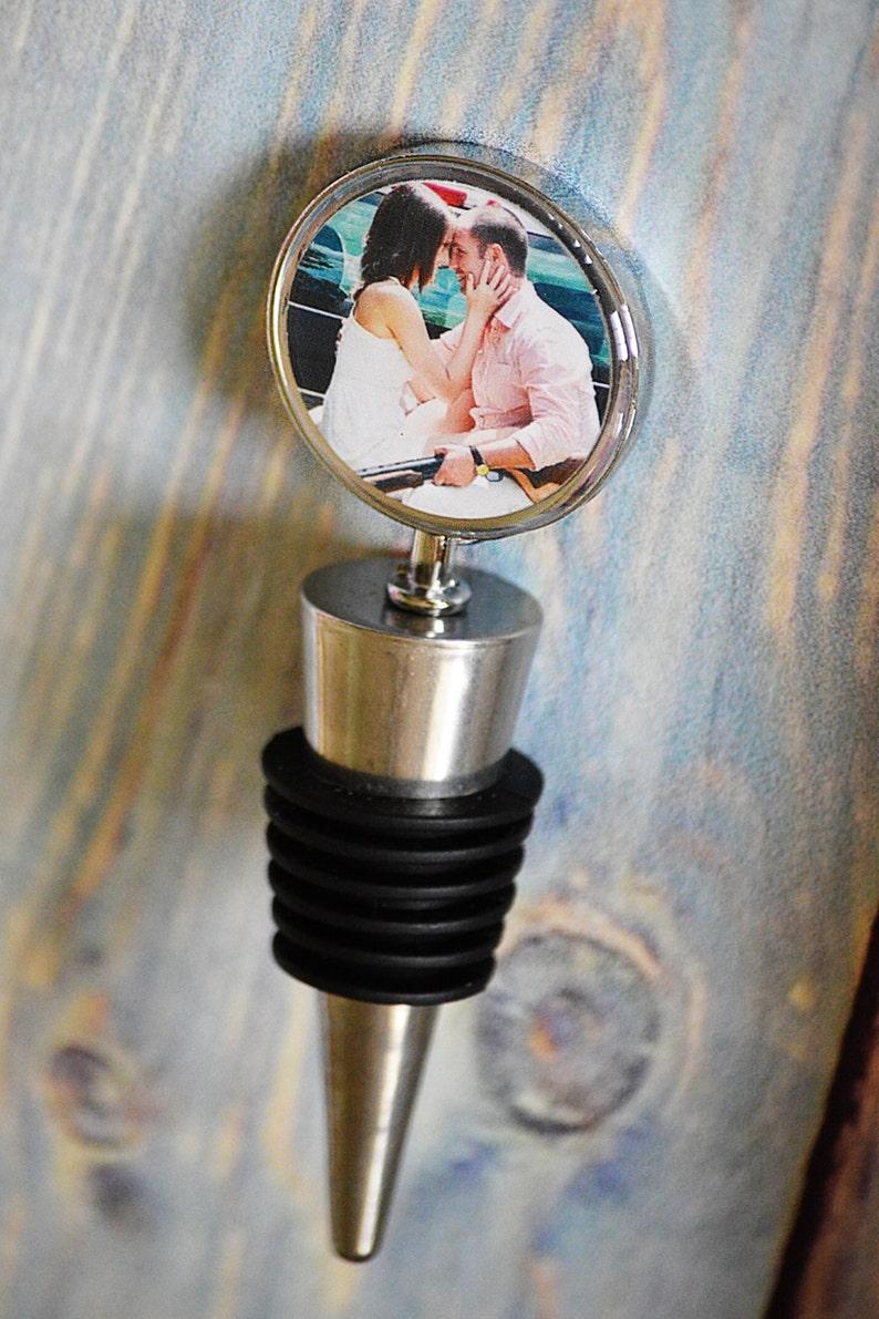 Wedding Favors Wine Bottle Topper Personalized custom image 0