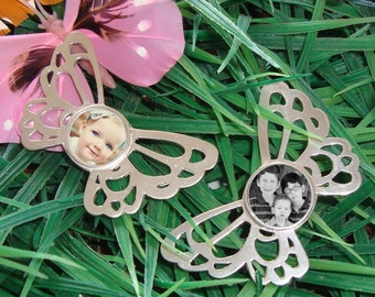 Photo Jewelry Butterfly Pendant Sterling Silver