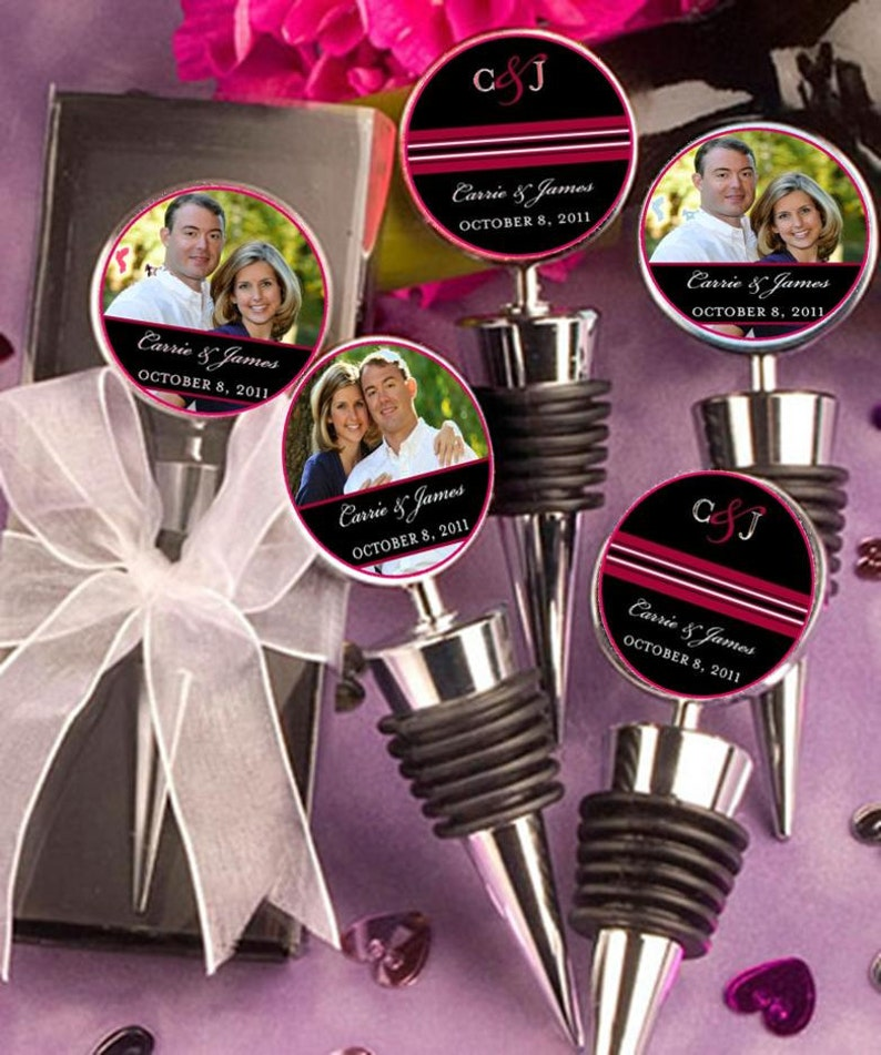 Wedding Favors Wine Bottle Topper Personalized custom image 0
