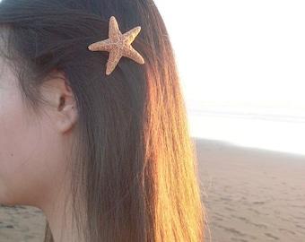 Small Starfish Barrette 50% Off Sale Little Mermaid Hair Clip Sea Star Ariel Nautical Costume Beach Wedding Accessories Womens Gift Summer
