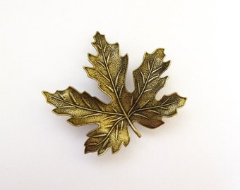 Maple Leaf Barrette Brown Hair Clip Autumn Fall Bride Rustic Woodland Nature Lover Forest Fairy Botanical Accessories Womens Gift For Her