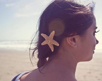 Starfish Barrette 50% OFF SALE Mermaid Hair Clip Nautical Bride Bridal Bridesmaid Ariel Costume Beach Wedding Accessories Girls Gift For Her