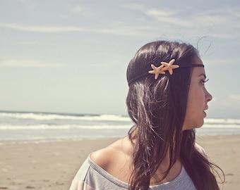 Double Starfish Headband Mermaid Hair Accessories Beach Lover Beachy Ariel Costume Boho Bohemian Hippie Hipster Nautical Womens Gift Summer