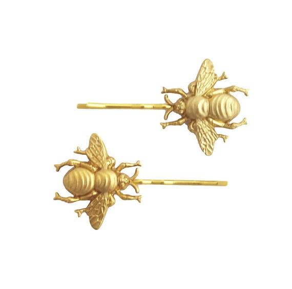 Gifts for Bridesmaids Daughter Wife Girlfriend Woodland Wedding Raw Brass Sun Flower Sunflower Brass Gold Hair Bobby Pin Set