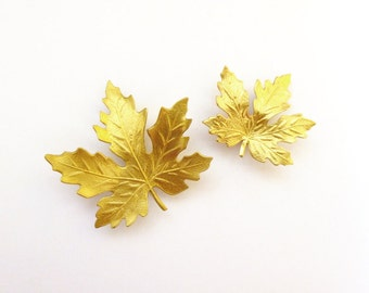 Wedding Hair Accessories Maple Leaf Barrettes Bridal Clips Bridesmaid Rustic Woodland Nature Garden Forest Fairy Elf Womens Gift For Her
