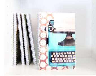 Typewriter Writing a Letter Dear Life Picture Printed on Notebook with Lined Blank Pages