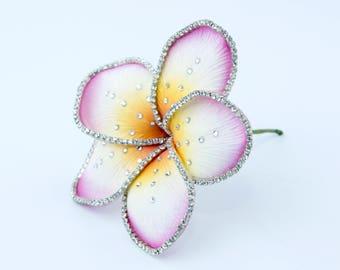 Crystallized plumeria