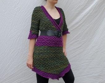 Wild Girl of the Wood - Knitting Pattern PDF - Knitted Tunic - Knit Dress - PDF Download - DIY Fashion