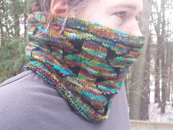 Sashiko Neckwarmer Knitting Pattern Pdf Download Neck Etsy