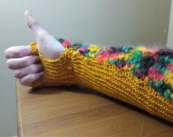 Lamellar Gauntlets - Knitting Pattern - PDF Download - Arm Warmers - Spring Knitting - DIY Fashion - Stash Busting