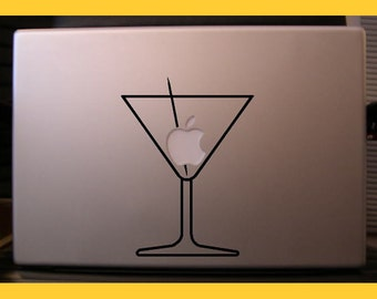 Appletini Macbook sticker decal in black or white - Free shipping to Canada and USA