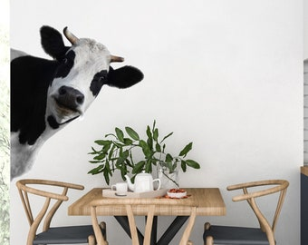 Cow Wall Decal Etsy