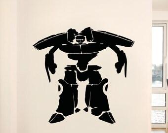 Vinyl Wall Decal Sticker Big Alien Robot 5144m