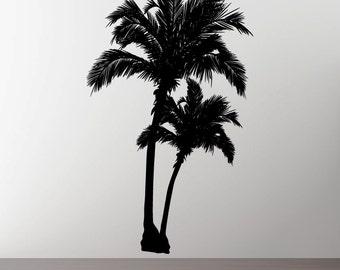 Stickerbrand Vinyl Wall Decal Sticker Beach Palm Trees 5ft Tall item 327-60x35
