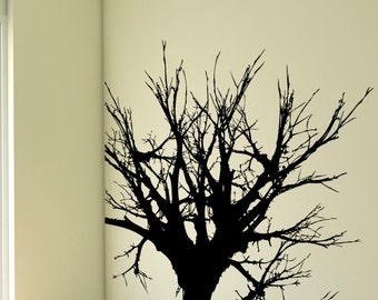 Vinyl Wall Decal Sticker Big Leafless Treetop 1231s