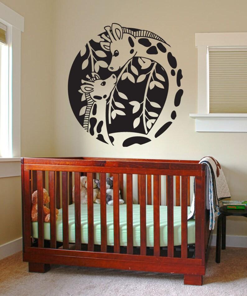 Vinyl Wall Art Decal Sticker Giraffe Circle OSDC727m