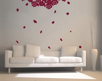 Vinyl Wall Decal Sticker Hanging Flower Roses  GFoster158B