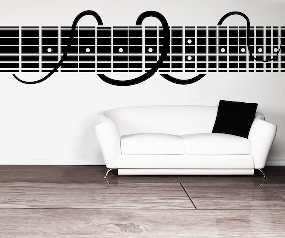 Vinyl Wall Decal Sticker Decorative Guitar Chords OSMB889s | Etsy