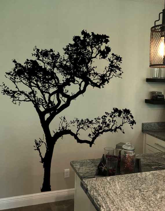 Big Oak Tree Wall Decal for Bedroom, Bathroom, Nursery, Living Room or  Dinning Room Decor. item #409