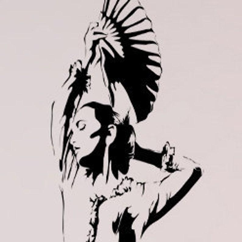 Vinyl Wall Decal Sticker Flamenco Dancer AC171s