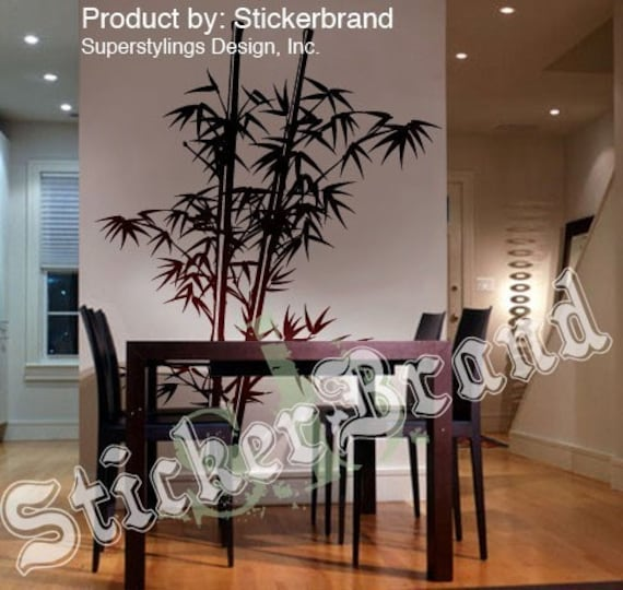 Vinyl Wall Decal Sticker Chinese Bamboo Asian 7ft Tall item 332A