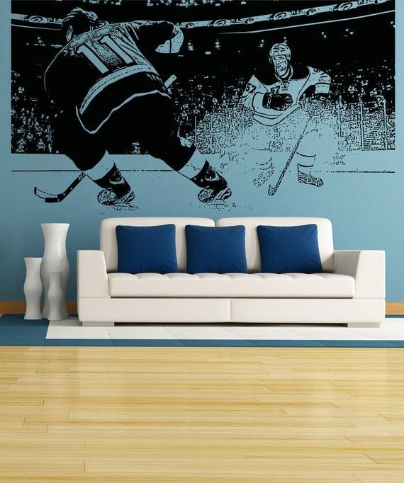 vinyl wall decal sticker hockey game 5088s | etsy