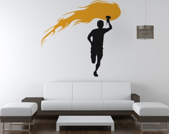 Vinyl Wall Decal Sticker Olympic Torch OSAA735s