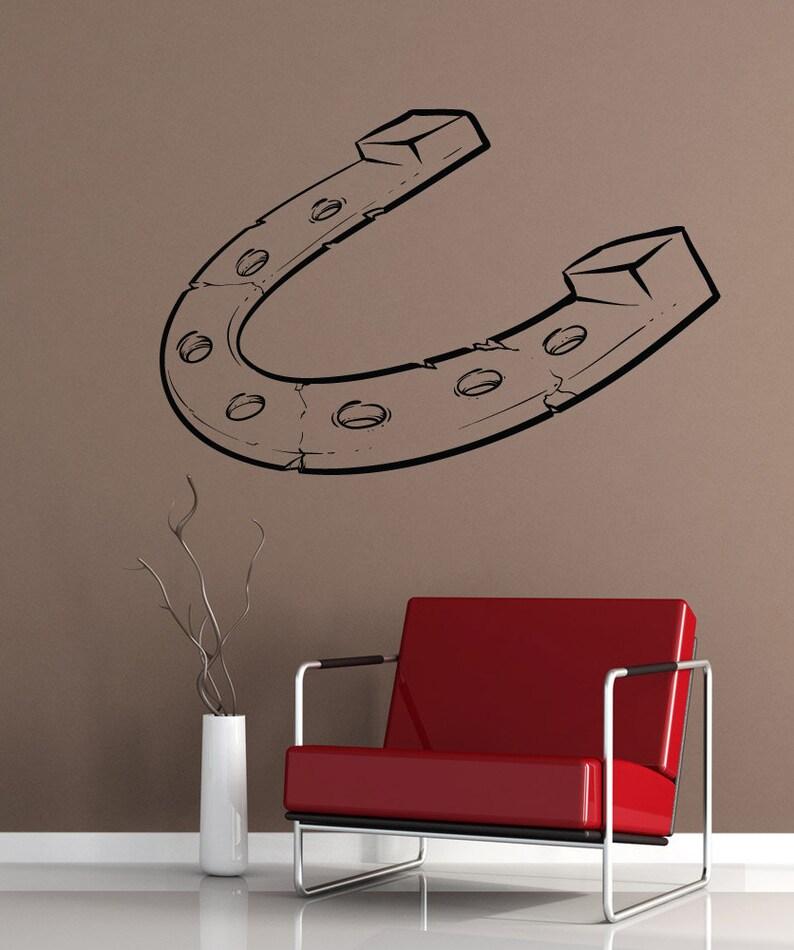 Vinyl Wall Decal Sticker Lucky Horseshoe 1482m