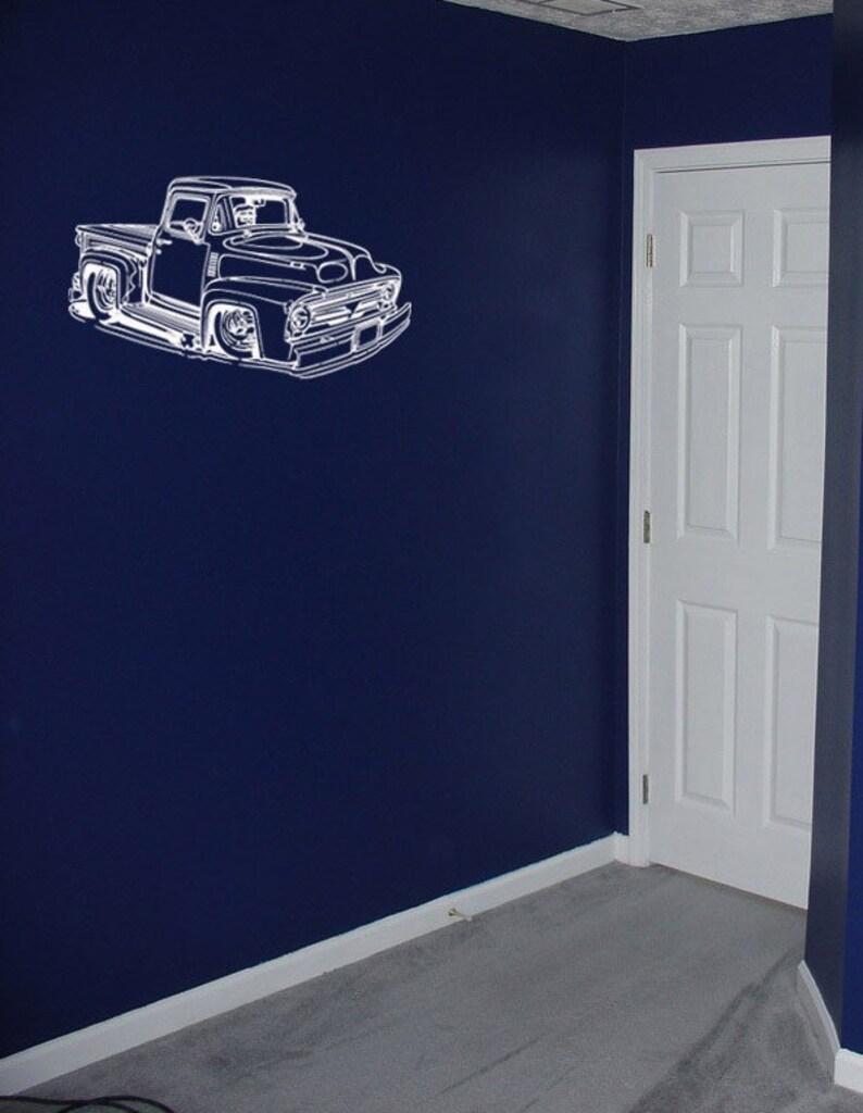Vinyl Wall Decal Sticker Hot Rod Truck