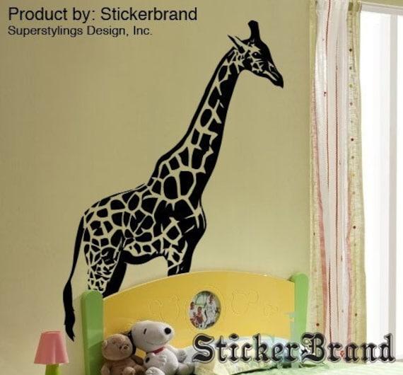 vinyl wall decal sticker 7ft tall big giraffe 383   etsy