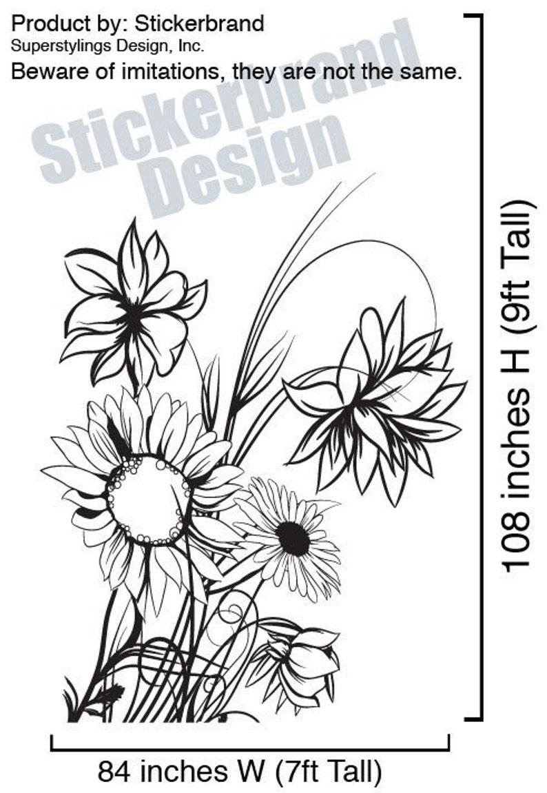 Vinyl Wall Decal Sticker Sunflower 305B