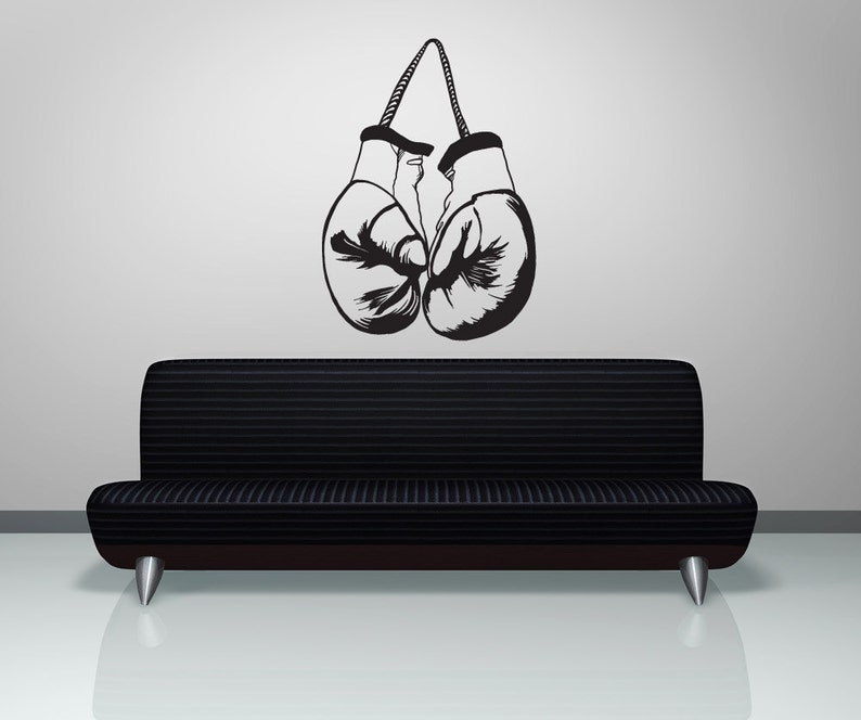 Vinyl Wall Decal Sticker Hanging Boxing Gloves OSMB1026m