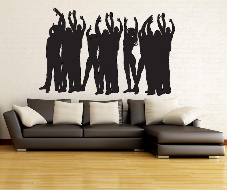 Vinyl Wall Decal Sticker Concert Crowd 1232B