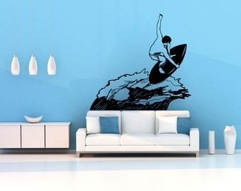 Vinyl Wall Decal Sticker Catching the Waves OSMB597s