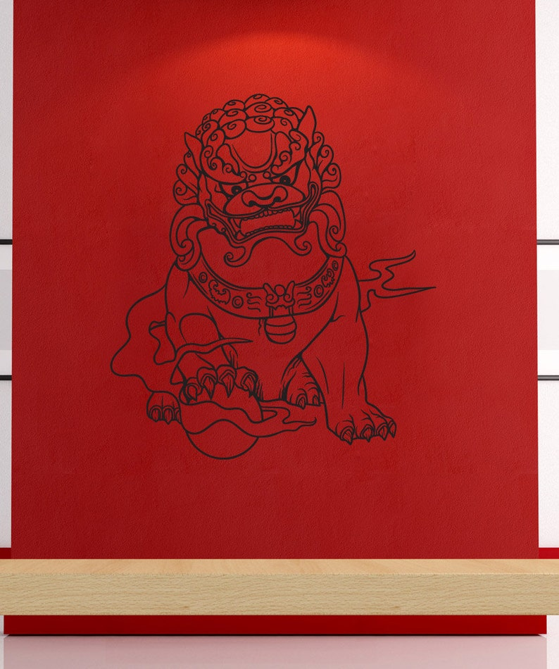 Vinyl Wall Decal Sticker Chinese Guardian 1455B