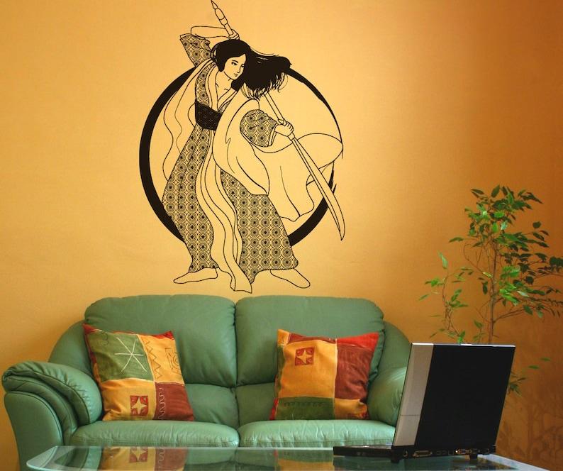Vinyl Wall Art Decal Sticker Samurai Girl OSDC674s