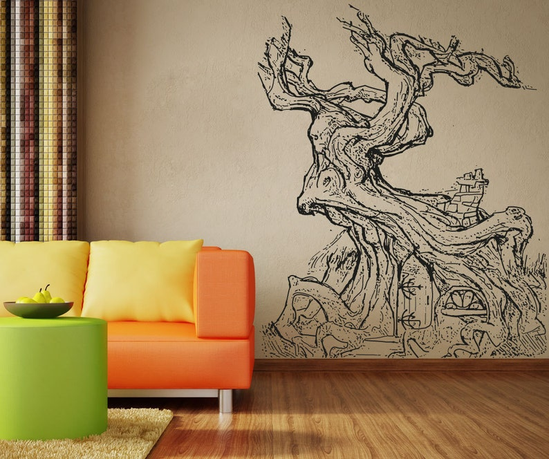 Vinyl Wall Decal Sticker Twisted Treehouse OSAA1334s