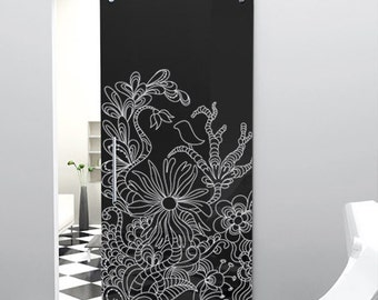 Vinyl Wall Decal Sticker Floral Bird Pattern Design  Item783s