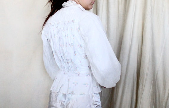 Antique Victorian Bodice Jacket // Late 1800s Whi… - image 7