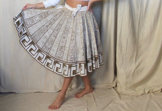 Vintage 1950s Mexican Skirt | 50s 60s Mexican Circ