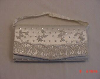 Perle de Hong Kong et de Sequin femme soirée formelle embrayage sac à main Vintage 18-1221