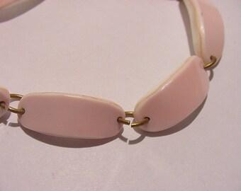 Vintage Pink Link Bracelet   11 - 772