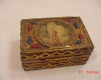Vintage Wood - I Believe Hand Painted - Trinket Box With Religious Theme  18 - 314