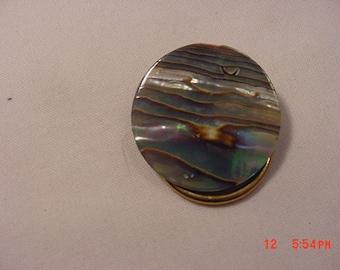 Vintage Abalone Shell Scarf Holder  18 - 1016